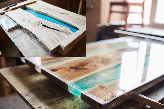 fabricar mesa con resina epoxi paso a paso