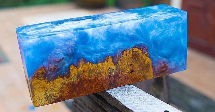 resina epoxi bloque decorado manualidades