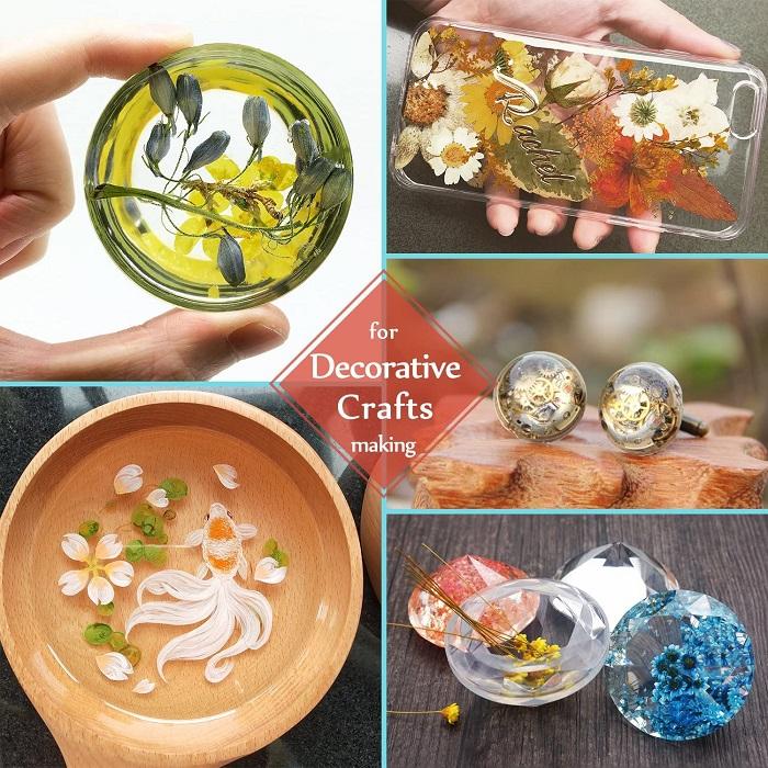 resina epoxi uv para manualidades diversas
